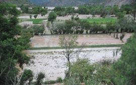 Desborde del Río Chico. Foto: Correo del Sur
