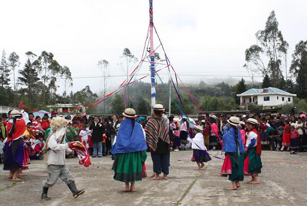 Fiesta del Sol en el cantón de Cañar, Ecuador
