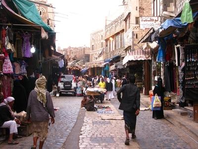 Calles de Sanaa (© Sergio Ferrer).