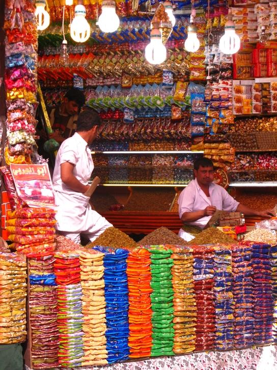Puesto en el mercado de Sanaa (© Sergio Ferrer)