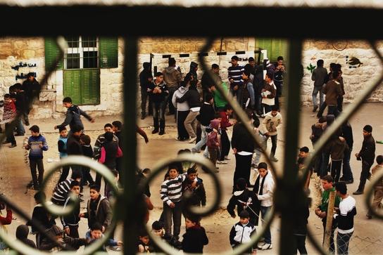 Escuela en Hebrón, Cisjordania (© Juan Carlos Tomasi).