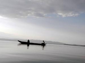 Vista del lago Kivu desde el lado congoleño (© Jana Brandt).