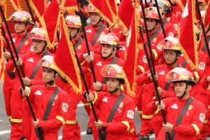 Desfile cívico-militar por el 192 aniversario de la independencia de Perú. EFE