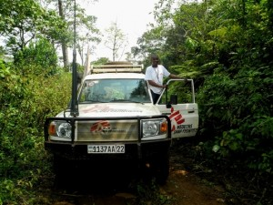 Éric, conductor de MSF y 'traductor' ocasional (© Jana Brandt).