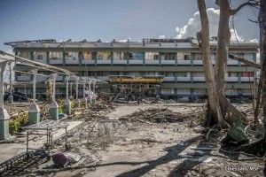 Terrenos del Hospital Bethany donde se instalará el hospital hinchable de MSF el martes (© Yan Libessart)