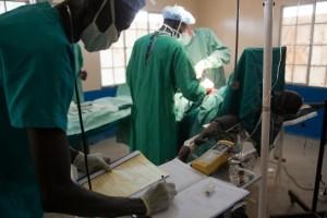 Quirófano del hospital de Leer antes de sufrir el ataque. © Olga Overbeek