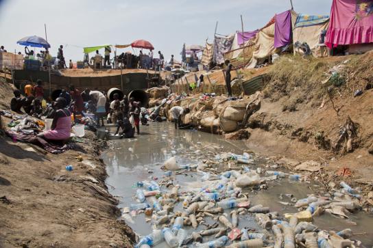 Campo de desplazados Tongping, en Juba. © Jake Simkin/MSF