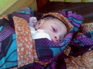 El primer bebé nacido en la nueva maternidad. Foto: Ana de la Osada