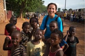 Marta Arias en República Centroafricana. ©UNICEF 2014