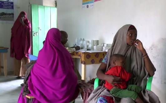 Centro de vacunación de Hudur.