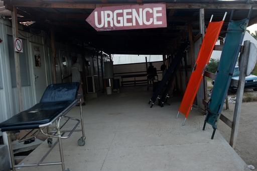 Urgencias. Hospital de Médicos Sin Fronteras en Leogane. Haití.