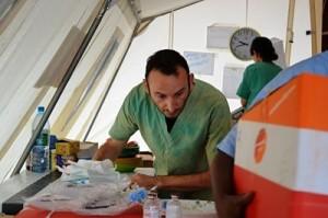 Massimo Galeotti, enfermero de Médicos Sin Fronteras. Fotografía de Sandra Smilley