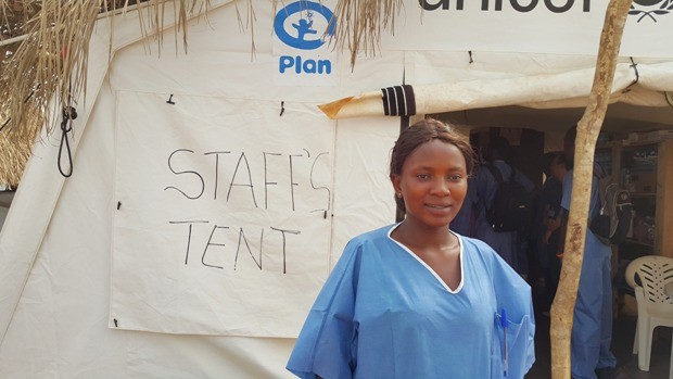 Salee Manga, enfermera que combate el ébola en Sierra Leona.