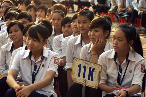 Niñas en un instituto de Vietnam