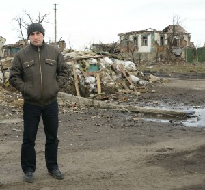 Serhiy Melnyk, con la desolación detrás (UNICEF Ukraine/2015)