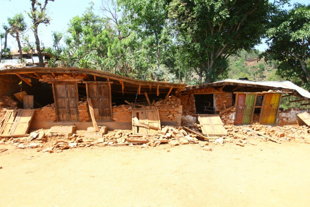 Shree Kalika Secondary School in Gerkhutar Village Development Committee in Nuwakot was destroyed by the earthquake on 25 April 2015. Four students of the school died in their homes during the earthquake. Photo by Kiran Panday for UNICEF.