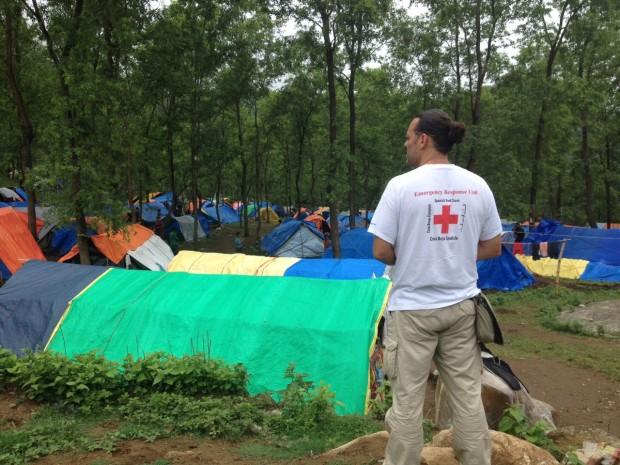 Campamento de desplazados en Rasuwa.