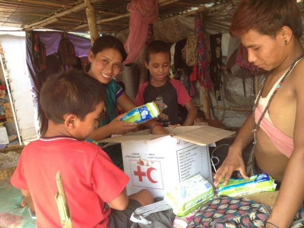 Distribución de kits higiénicos en Rasuwa.