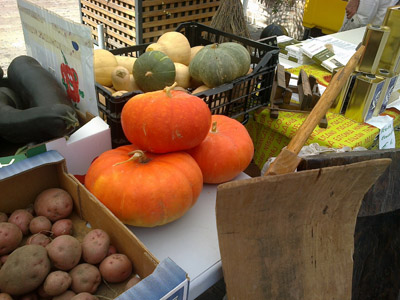 Productos de un mercado de la tierra. Foto: Enrique Santana.