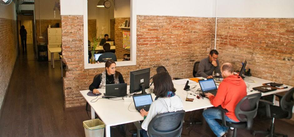 Espacio de coworking, en Barcelona