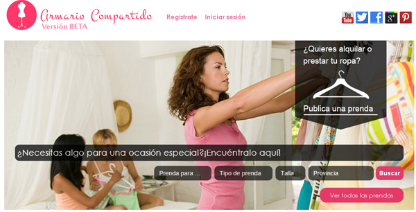 Imagen de la plataforma armariocompartido.es