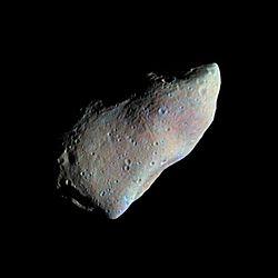 magen tomada por la sonda Galileo del asteroide Gaspra. / Wikipedia