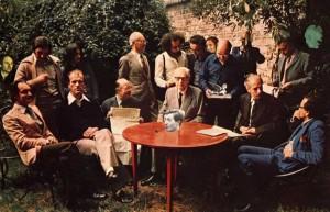 Imagen del grupo de los oulipos en 1975