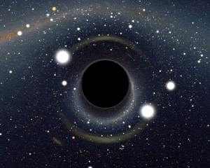Imagen generada por ordenador. Ilustra la distorsión visual que observaríamos en las proximidades de un agujero negro debida a los efectos de la gravedad. / Alain Riazuelo