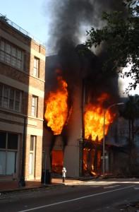 Incendio en Nueva Orleans