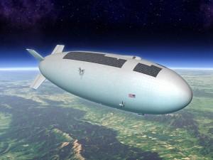 Un concepto de dirigible estratosférico con un telescopio en su lomo e instrumentos de observación terrestre y atmosférica en su panza. Mike Hughes (Eagre Interactive) / Keck Institute for Space Studies