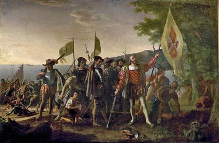 Desembarco de Colón en las Indias Occidentales, por John Vanderlyn (1775-1852).