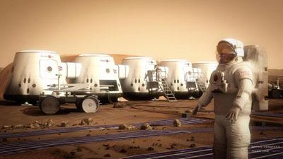 Ilustración del Proyecto Mars One. Bryan Versteeg/Mars One.