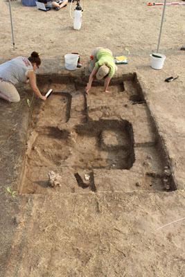 Excavaciones de la Universidad de Iowa en 14SC409, un enclave a una milla del pueblo de El Cuartelejo. Sarah Trabert.