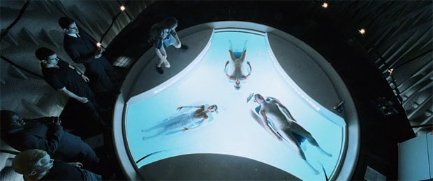 En la película 'Minority Report', basada en un relato de Philip K. Dick y dirigida por Steven Spielberg, tres mutantes precognoscientes 'ven' los crímenes antes de que se produzcan. DreamWorks / 20th Century Fox.
