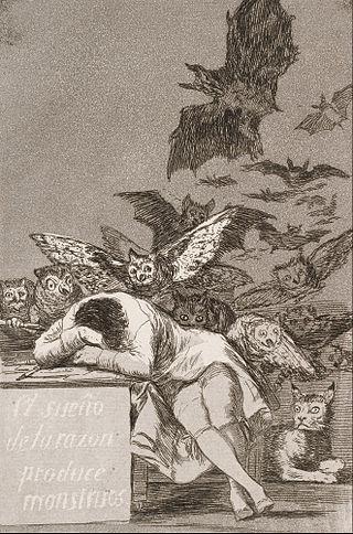 'El sueño de la razón produce monstruos', grabado de Francisco de Goya.