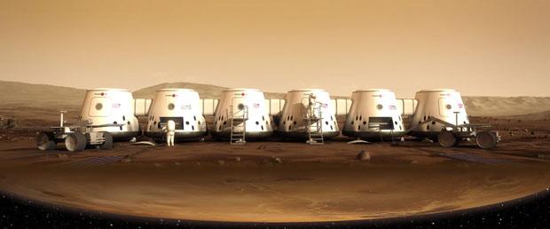 Ilustración del proyecto Mars One.