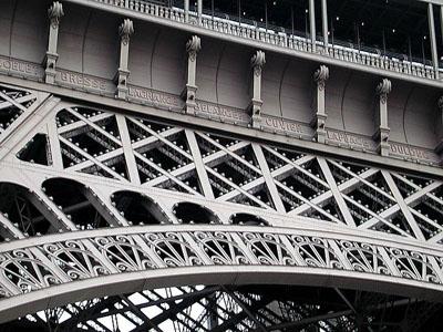 Nombres de científicos franceses en el friso de la Torre Eiffel. Ricce.