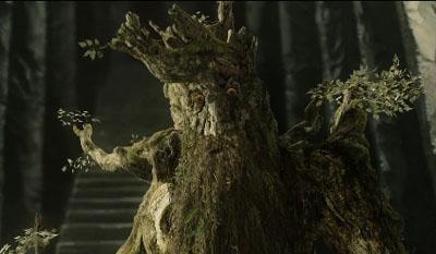 Bárbol, el Ent, en la trilogía cinematográfica de 'El señor de los anillos' dirigida por Peter Jackson. New Line Cinema.