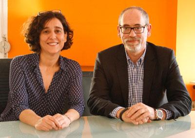 Mónica Peláez y Carlos Rosales, los dos emprendedores responsables de Safari Crowdfunding.