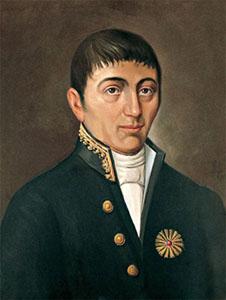Retrato del médico y científico peruano José Hipólito Unanue. Imagen de Wikipedia.