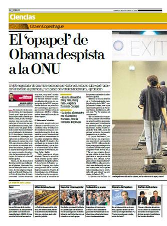 Ninguno estamos a salvo de las erratas, pero otra cosa son los errores de concepto. Imagen de una página del diario Público, 20 de diciembre de 2009.