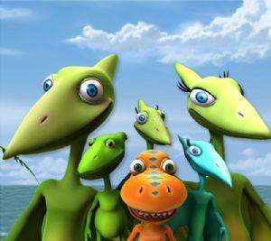¿Cuántos dinosaurios hay aquí? Respuesta: uno. Imagen de Dinosaur Train, PBS Kids.