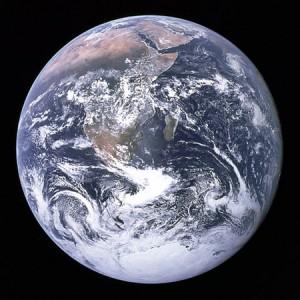 La Canica Azul (Blue Marble), imagen de la Tierra tomada por la tripulación del Apolo 17 el 7 de diciembre de 1972. Imagen de NASA.