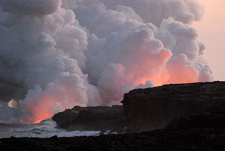 Erupción del volcán Kilauea (Hawái) en 2009. Imagen de Javier Yanes.
