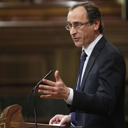 Alfonso Alonso interviniendo en un pleno del Congreso de los Diputados. Imagen de Juan Manuel Prats / Wikipedia.
