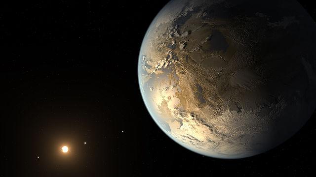 Representación artística de Kepler-186f. Imagen de NASA Ames/SETI Institute/JPL-Caltech.