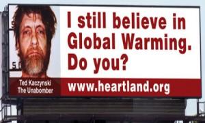Campaña del Instituto Heartland negando el cambio climático. Imagen promocional de Heartland Institute.