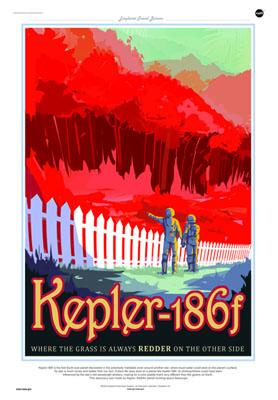 """""""Kepler-186f, donde la hierba siempre es más roja al otro lado"""". Imagen de NASA/JPL-Caltech."""