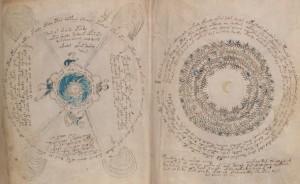 Círculos mágicos en el Manuscrito Voynich. Imagen de la Universidad de Yale.