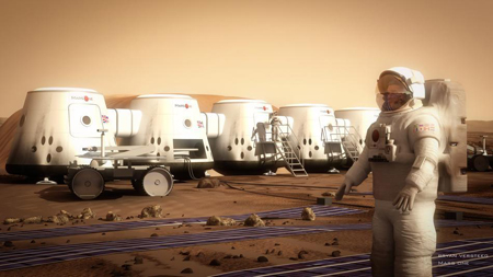 Recreación artística del proyecto Mars One. Imagen de mars-one.com.